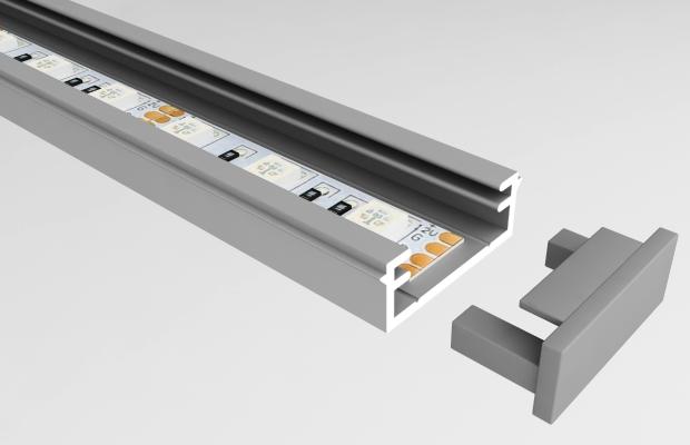 Профиль для светодиодной ленты позволит наиболее удобно монтировать освещение