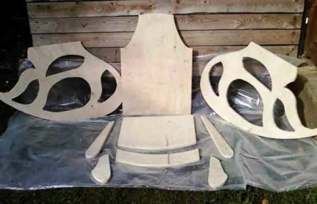 Раскрой элементов кресла из фанеры