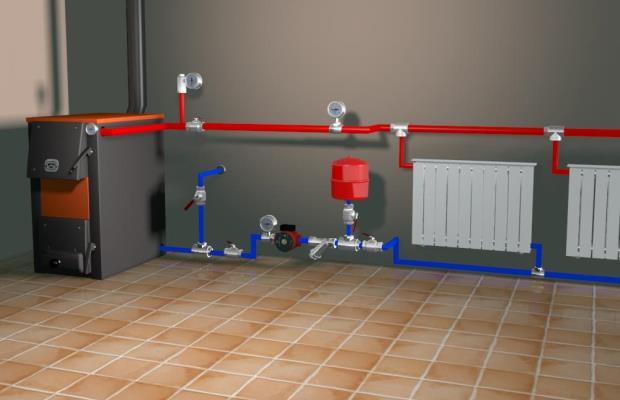 Устройство системы отопления с расширительным баком