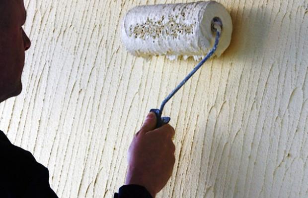 Фактурная краска для красивой отделки стен