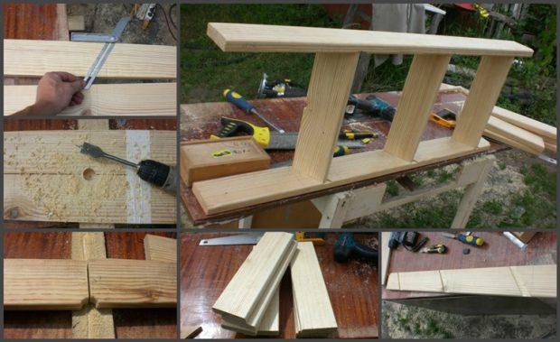 Изготавливаем каркас лестницы
