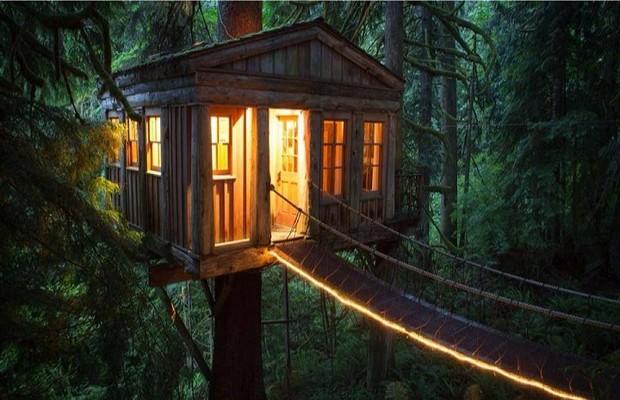 Дом на дереве красивый и долговечный