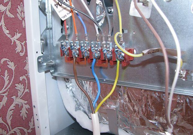 Подключение кабеля к щитку