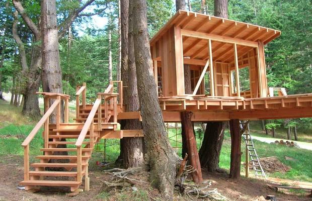 Дом на дереве самостоятельной постройки