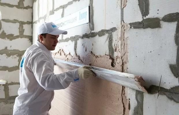Оштукатурить можно стену из любого стройматериала