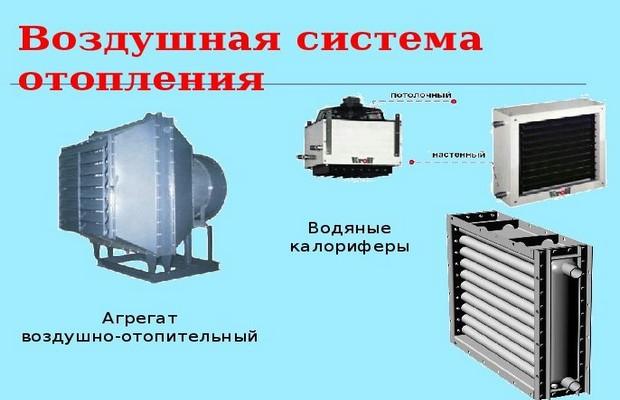 Разновидности систем воздушного отопления