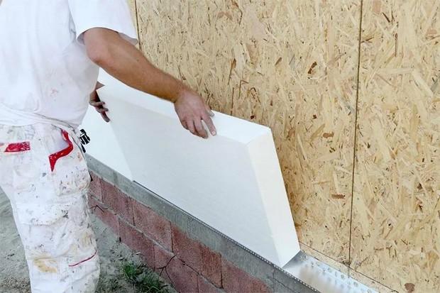 Утепляем наружные стены дома пенопластом