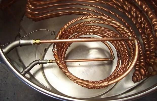 Изготавливаем змеевик для водонагревателя