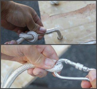 Крепление веревки