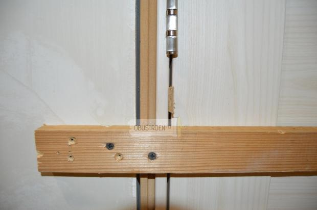 Устанавливаем собранный блок в дверной проем