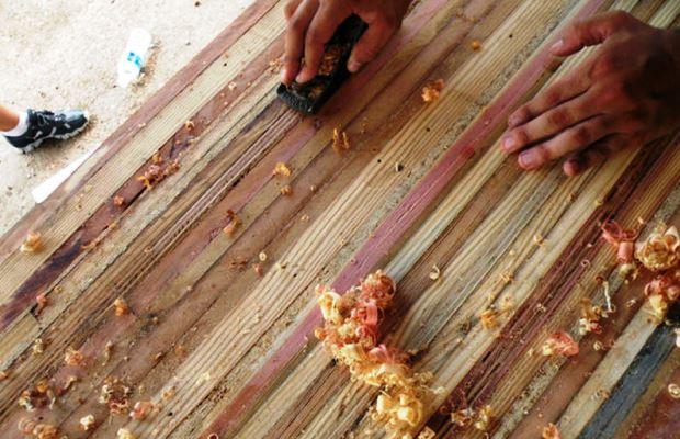 Всякая деревянная поверхность любит качественную шлифовку и полировку