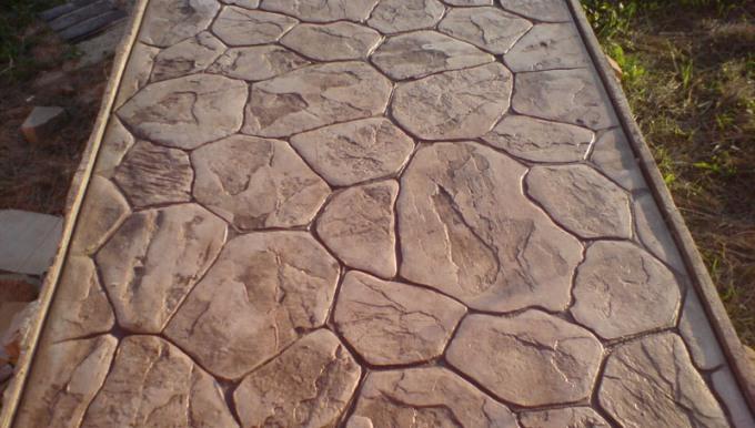 Декоративный бетон – технология и рецептура штампованного бетона