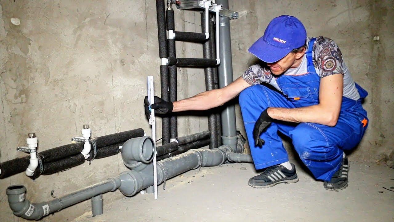 Монтаж канализации и канализационных труб – проводим работы с соблюдением всех требований