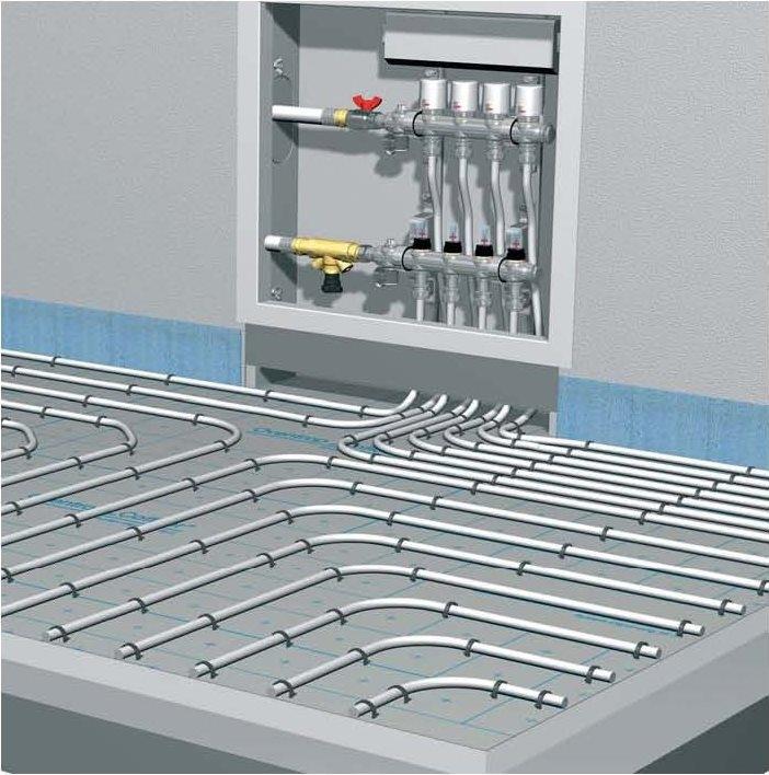 Обустройство системы отопления «теплый пол» своими руками