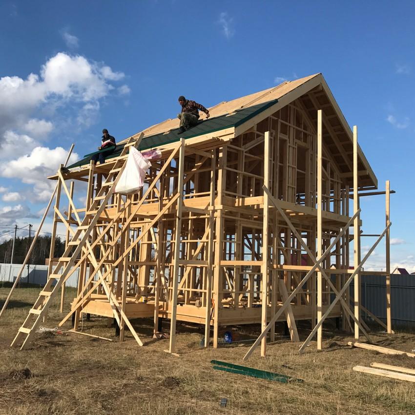 строительные леса для частного дома своими руками